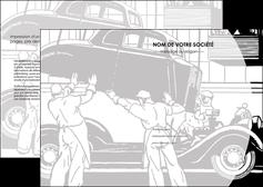 faire modele a imprimer depliant 2 volets  4 pages  garage concessionnaire automobile reparation de voiture MIS32151