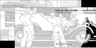 creation graphique en ligne depliant 2 volets  4 pages  garage concessionnaire automobile reparation de voiture MIS32163