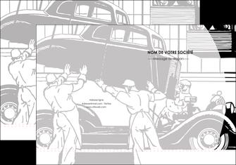 realiser pochette a rabat garage concessionnaire automobile reparation de voiture MIS32169