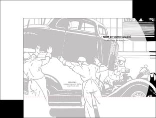 modele en ligne pochette a rabat garage concessionnaire automobile reparation de voiture MIS32171