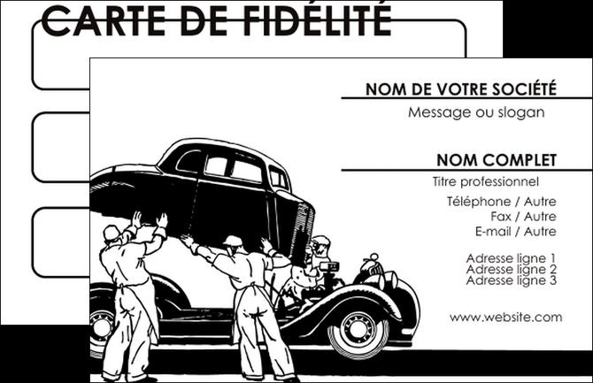Carte De Visite Modèle Et Exemple Garage Garagiste Atelier
