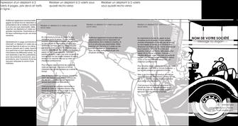 maquette en ligne a personnaliser depliant 4 volets  8 pages  garage garagiste atelier de garagiste MIS32331