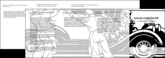 creation graphique en ligne depliant 4 volets  8 pages  garage garagiste atelier de garagiste MIS32333
