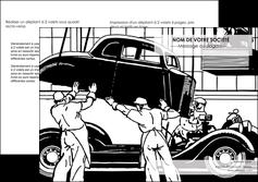 imprimerie depliant 2 volets  4 pages  garage garagiste atelier de garagiste MIS32337