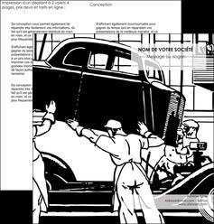 realiser depliant 2 volets  4 pages  garage garagiste atelier de garagiste MIS32339