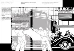 realiser depliant 3 volets  6 pages  garage garagiste atelier de garagiste MIS32343