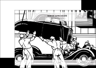 creer modele en ligne affiche garage garagiste atelier de garagiste MIS32345