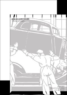 creation graphique en ligne tete de lettre garage garagiste atelier de garagiste MIS32347