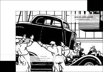 impression pochette a rabat garage garagiste atelier de garagiste MIS32353