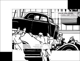 personnaliser maquette pochette a rabat garage garagiste atelier de garagiste MIS32355
