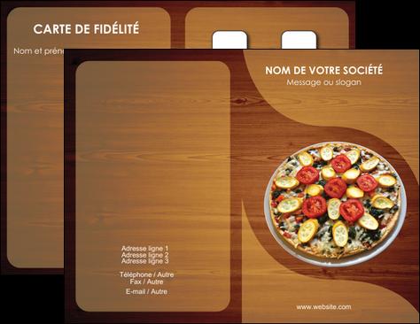 Maquette En Ligne A Personnaliser Carte De Visite Pizzeria Et Restaurant Italien Pizza Zone Tampon