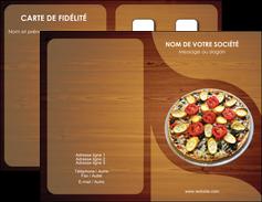 maquette en ligne a personnaliser carte de visite pizzeria et restaurant italien pizza pizzeria zone tampon MLGI32357