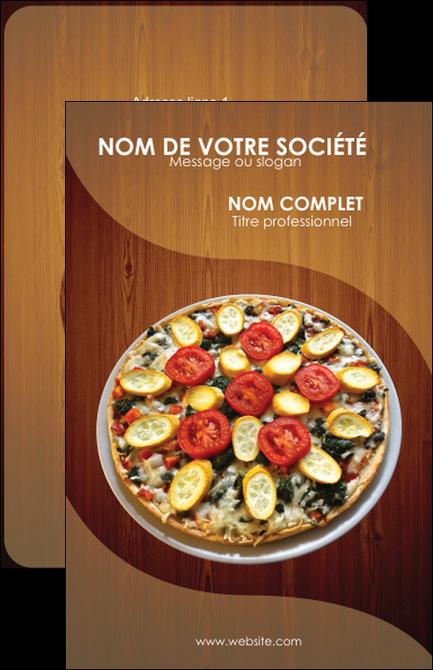Cree Carte De Visite Pizzeria Et Restaurant Italien Pizza Zone Tampon MLGI32359