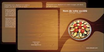 creer modele en ligne depliant 2 volets  4 pages  pizzeria et restaurant italien pizza pizzeria zone tampon MLGI32361