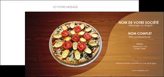 cree carte de correspondance pizzeria et restaurant italien pizza pizzeria zone tampon MLGI32363