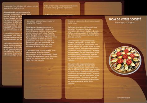 Beliebt Dépliant 3 volets (6 pages) modèle et exemple pizza, pizzeria  LE94
