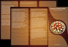 maquette en ligne a personnaliser depliant 3 volets  6 pages  pizzeria et restaurant italien pizza pizzeria zone tampon MLGI32367