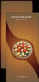 personnaliser maquette flyers pizzeria et restaurant italien pizza pizzeria zone tampon MLGI32371