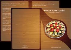 faire modele a imprimer depliant 2 volets  4 pages  pizzeria et restaurant italien pizza pizzeria zone tampon MLGI32373