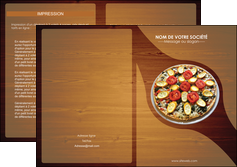 cree depliant 2 volets  4 pages  pizzeria et restaurant italien pizza pizzeria zone tampon MLGI32375