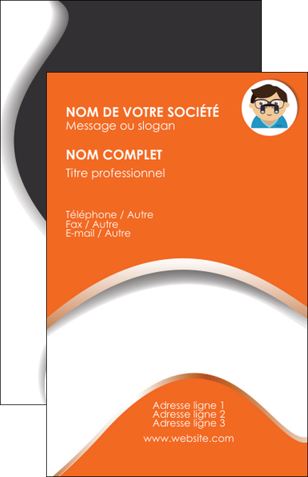 Creation Graphique En Ligne Carte De Visite Infirmier Infirmiere Opticien Lunetier Optometristes MLGI32511