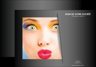 modele en ligne affiche centre esthetique  maquillage beaute couleur MLGI32525