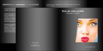 creer modele en ligne depliant 2 volets  4 pages  centre esthetique  maquillage beaute couleur MLGI32531