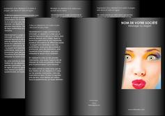 modele en ligne depliant 3 volets  6 pages  cosmetique maquillage beaute couleur MLGI32535