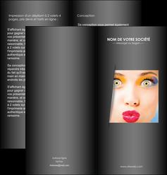 modele en ligne depliant 2 volets  4 pages  centre esthetique  maquillage beaute couleur MLGI32541