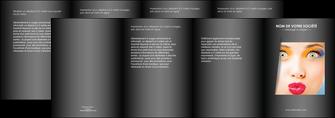 creer modele en ligne depliant 4 volets  8 pages  centre esthetique  maquillage beaute couleur MLGI32547