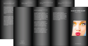 maquette en ligne a personnaliser depliant 4 volets  8 pages  centre esthetique  maquillage beaute couleur MLGI32551