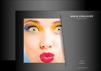 personnaliser modele de affiche centre esthetique  maquillage beaute couleur MLGI32553