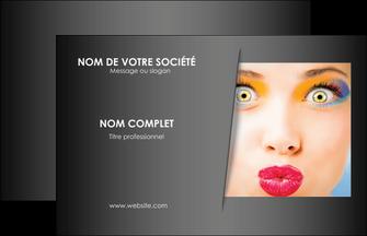 creer modele en ligne carte de visite centre esthetique  maquillage beaute couleur MLGI32555
