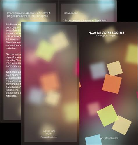 creation graphique en ligne depliant 2 volets  4 pages  abstrait design texture MLGI32631