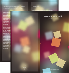 creation graphique en ligne depliant 2 volets  4 pages  abstrait design texture MIF32631