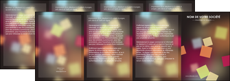 creation graphique en ligne depliant 4 volets  8 pages  abstrait design texture MIF32635