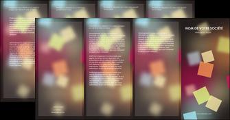 creer modele en ligne depliant 4 volets  8 pages  abstrait design texture MLIG32641