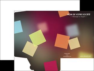 faire modele a imprimer pochette a rabat abstrait design texture MIF32651