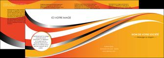 creer modele en ligne depliant 4 volets  8 pages  texture contexture structure MIF32991