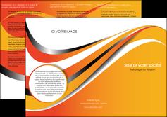 cree depliant 3 volets  6 pages  texture contexture structure MIF33005