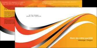 impression depliant 2 volets  4 pages  texture contexture structure MLIG33011