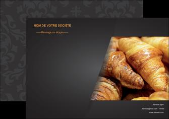 personnaliser modele de affiche boulangerie maquette boulangerie croissant patisserie MIF33097