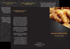 modele en ligne depliant 3 volets  6 pages  boulangerie maquette boulangerie croissant patisserie MIF33099