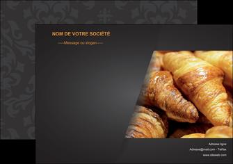 personnaliser maquette affiche boulangerie maquette boulangerie croissant patisserie MIF33101
