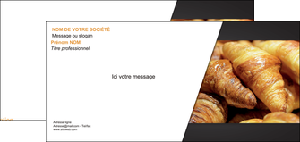 cree carte de correspondance boulangerie maquette boulangerie croissant patisserie MIF33103