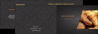 maquette en ligne a personnaliser depliant 2 volets  4 pages  boulangerie maquette boulangerie croissant patisserie MIF33107