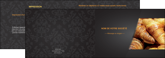 maquette en ligne a personnaliser depliant 2 volets  4 pages  boulangerie maquette boulangerie croissant patisserie MIF33109