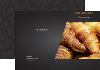 personnaliser modele de pochette a rabat boulangerie maquette boulangerie croissant patisserie MIF33111