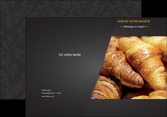 modele pochette a rabat boulangerie maquette boulangerie croissant patisserie MIF33113