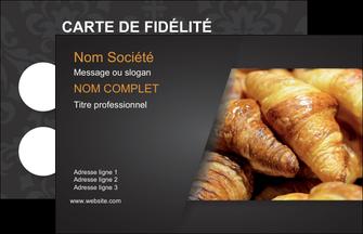 Carte De Visite Modele Et Exemple Maquette Boulangerie Croissant Patisserie